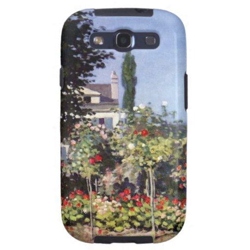 Jardín floreciente de Claude Monet Galaxy SIII Carcasas