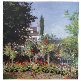 Jardín floreciente de Claude Monet Servilleta De Papel
