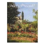 Jardín floreciente de Monet, cambio de dirección; Postal