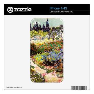 Jardín floreciente de Van Gogh en la bella arte Calcomanía Para iPhone 4S