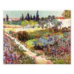 Jardín floreciente de Van Gogh en la bella arte Cojinete