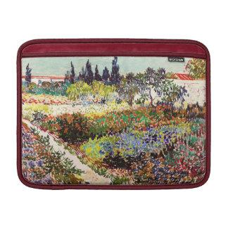 Jardín floreciente de Van Gogh en la bella arte Funda Macbook Air