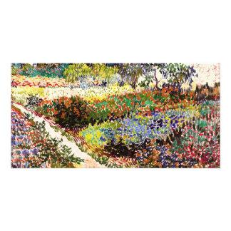 Jardín floreciente de Van Gogh en la bella arte Tarjeta Personal Con Foto