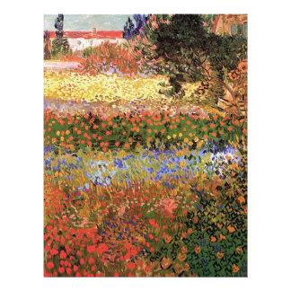 Jardín floreciente de Van Gogh Membrete