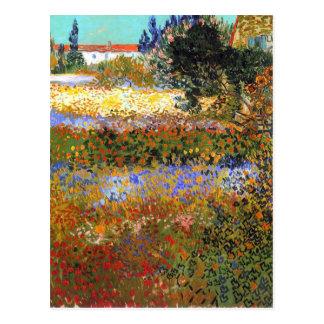 Jardín floreciente de Vincent van Gogh Postal