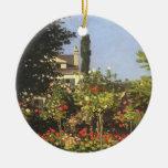 Jardín floreciente en Sainte-Adresse de Claude Adorno De Navidad