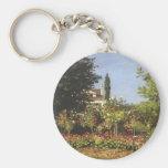 Jardín floreciente en Sainte-Adresse de Claude Llaveros Personalizados