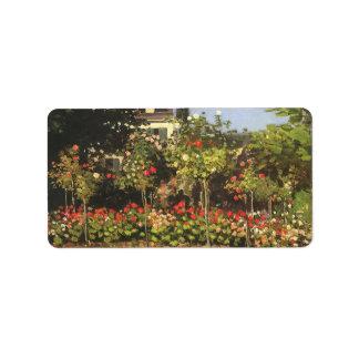 Jardín floreciente en Sainte-Adresse de Claude Mon