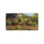 Jardín floreciente en Sainte-Adresse de Claude Mon Etiquetas De Dirección