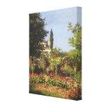 Jardín floreciente en Sainte-Adresse de Claude Mon Lienzo Envuelto Para Galerias