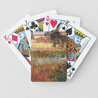 Jardín floreciente Vincent van Gogh Baraja Cartas De Poker
