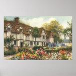 Jardín formal de la cabaña inglesa de la impresiones