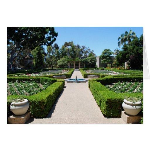 Jardín formal tarjeta de felicitación