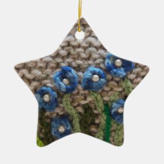 jardín hecho punto adorno navideño de cerámica en forma de estrella