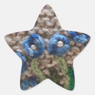 jardín hecho punto pegatina en forma de estrella