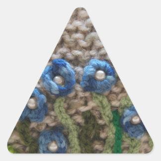 jardín hecho punto pegatina triangular