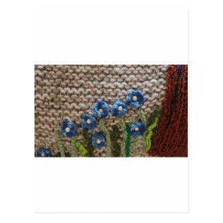 jardín hecho punto postal