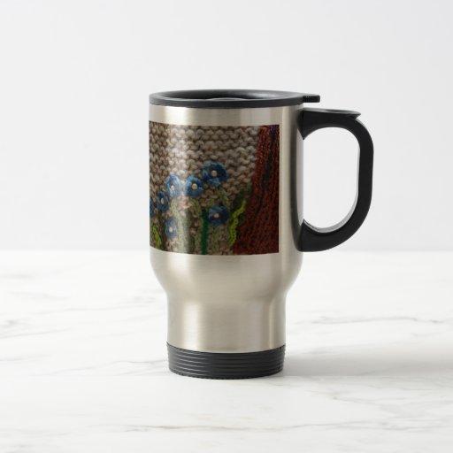 jardín hecho punto taza de café