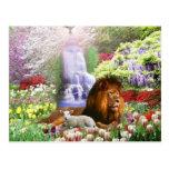Jardín hermoso tarjeta postal