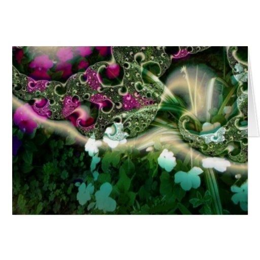 jardín ideal tarjeta de felicitación