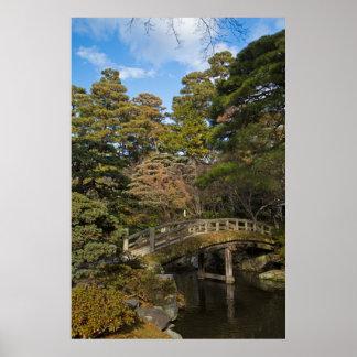 Jardín imperial del palacio en Kyoto Poster