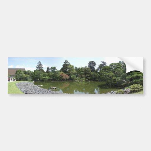 Jardín imperial del palacio etiqueta de parachoque