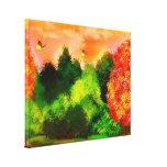 jardín impresión en lienzo estirada