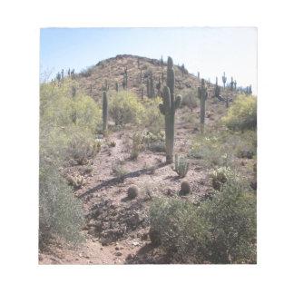 Jardín impresionante del cactus bloc de notas