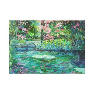 jardín impresionista lona envuelta para galerías