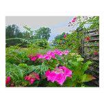 Jardín inglés 2 tarjetas postales