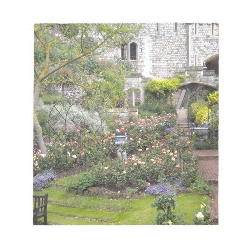 Jardín inglés bloc de papel