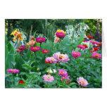 Jardín inglés floral felicitación