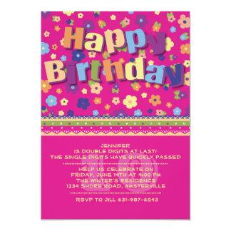 Jardín - invitación de la fiesta de cumpleaños de