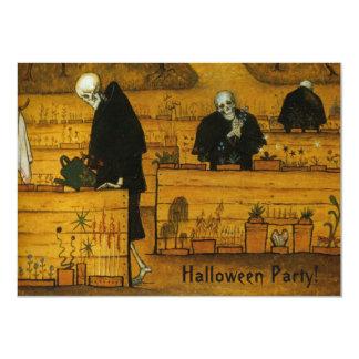 """""""Jardín invitaciones de encargo de Halloween de la Invitación 4.5"""" X 6.25"""""""