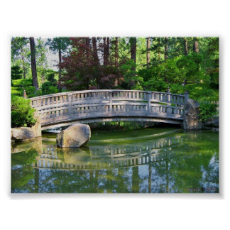 Jardín japonés de Nishinomiya en el parque de Mani Posters