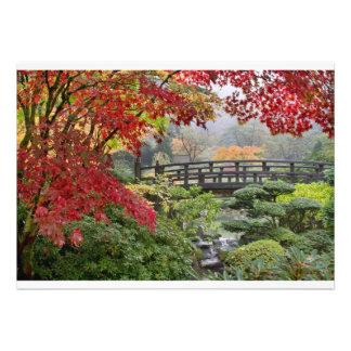 Jardín japonés en una tarjeta de niebla de la maña comunicado personalizado