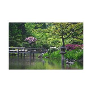 Jardín japonés impresiones en lona