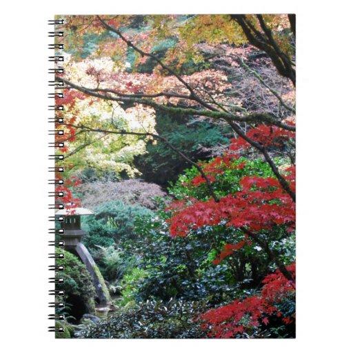 Jardín japonés libretas espirales