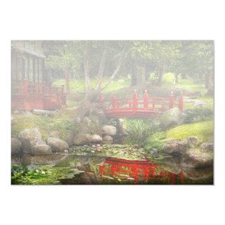 """Jardín japonés - meditación invitación 5"""" x 7"""""""