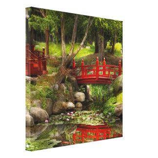 Jardín japonés - meditación impresion de lienzo