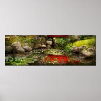 Jardín japonés - meditación poster