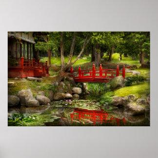 Jardín japonés - meditación impresiones