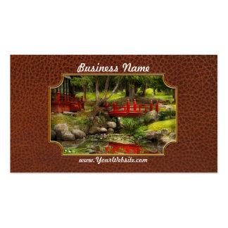 Jardín japonés - meditación tarjetas de visita