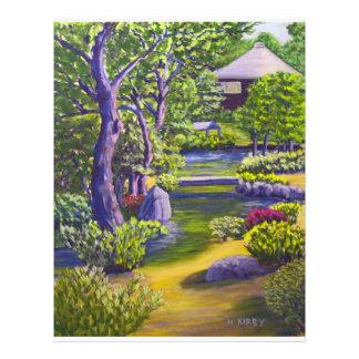 Jardín japonés membretes personalizados