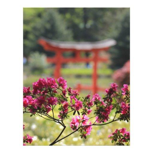 Jardín japonés membrete a diseño