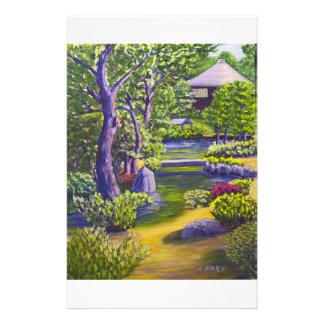 Jardín japonés papelería de diseño