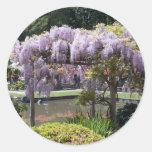 Jardín japonés pegatina redonda