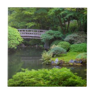 Jardín japonés, Portland, Oregon, los E.E.U.U. 2 Azulejo Cuadrado Pequeño