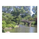 Jardín japonés tarjeta postal