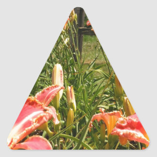 Jardín Lillies Pegatinas Trianguladas Personalizadas